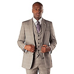 Hammond & Co. by Patrick Grant - Grey prince of wales check 2 button tailored fit suit