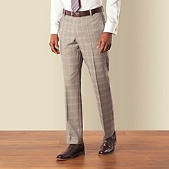 Hammond & Co. by Patrick Grant - Grey prince of wales check plain front tailored fit suit trouser