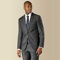 Stvdio by Jeff Banks - Charcoal check 2 button front soft tailoring suit jacket