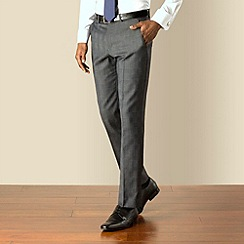 Stvdio by Jeff Banks - Charcoal check plain front soft tailoring suit trouser