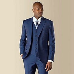 Stvdio by Jeff Banks - Blue mohair look 2 button modern fit suit jacket