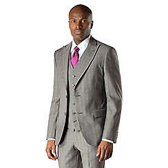 Stvdio by Jeff Banks - Grey check 2 button front modern fit two piece suit