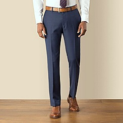 Racing Green - Blue plain tailored fit suit trouser