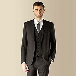 Red Herring - Charcoal puppytooth superslim fit 2 button suit jacket