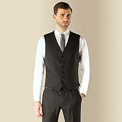 Red Herring - Charcoal puppytooth super slim fit 6 button waistcoat