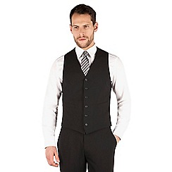 Jeff Banks - Black 6 button travel suit waistcoat