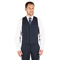 Jeff Banks - Navy 6 button travel suit waistcoat