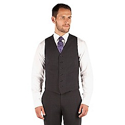Jeff Banks - Charcoal 6 button travel suit waistcoat
