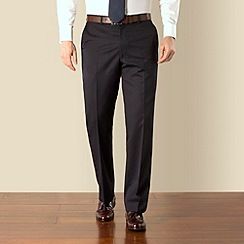 Pierre Cardin - Plain navy regular fit trouser