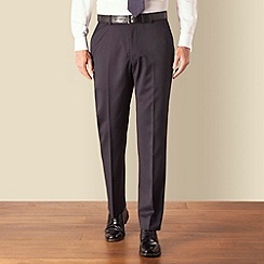 Racing Green - Navy narrow stripe regular fit suit trouser