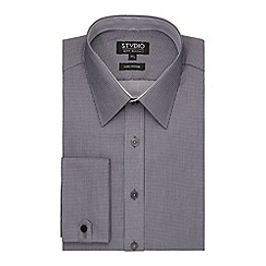 Stvdio by Jeff Banks - Grey Micro Check Shirt