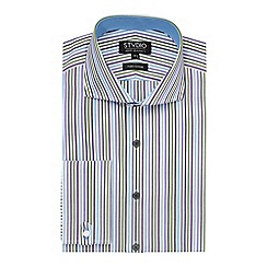 Stvdio by Jeff Banks - Purple Jerba Stripe Shirt