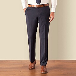 J by Jasper Conran - Navy pindot plain front tailored fit occasions suit trouser