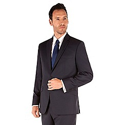 J by Jasper Conran - Navy herringbone 2 button front tailored fit business suit jacket