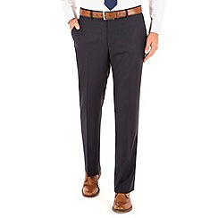 J by Jasper Conran - Navy herringbone plain front tailored fit business suit trouser