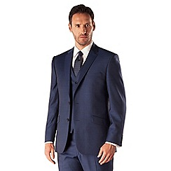J by Jasper Conran - Blue sharkskin 2 button front tailored fit business suit jacket