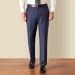 J by Jasper Conran - Blue sharkskin plain front tailored fit business suit trouser