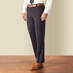 J by Jasper Conran - Navy stripe plain front tailored fit business suit trouser
