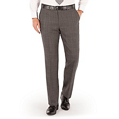 J by Jasper Conran - Grey broken check plain front tailored fit luxury suit trouser