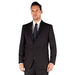 J by Jasper Conran - Navy flannel 2 button front tailored fit luxury suit