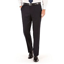 J by Jasper Conran - Navy flannel plain front tailored fit luxury suit trouser
