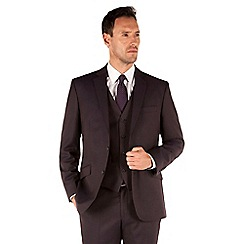 J by Jasper Conran - Aubergine flannel 2 button front tailored fit luxury suit