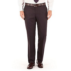 J by Jasper Conran - Aubergine flannel plain front tailored fit suit trouser