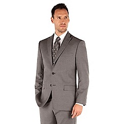 J by Jasper Conran - Grey flannel 2 button front tailored fit luxury suit jacket