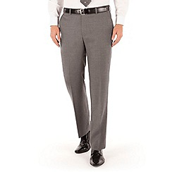 J by Jasper Conran - Grey flannel plain front tailored fit luxury suit trouser