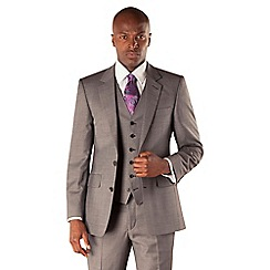 Hammond & Co. by Patrick Grant - Grey pick and pick 2 button tailored fit st james suit jacket