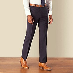 Hammond & Co. by Patrick Grant - Navy herringbone plain front tailored fit suit trouser