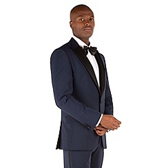 Stvdio by Jeff Banks - Navy plain 2 button front tailored fit dinner suit
