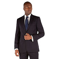 Hammond & Co. by Patrick Grant - Navy flannel stripe tailored fit suit