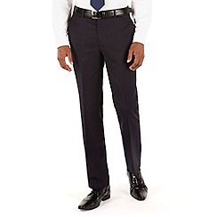 Hammond & Co. by Patrick Grant - Navy flannel stripe tailored fit suit trouser