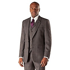 Hammond & Co. by Patrick Grant - Grey jaspe check 2 button tailored fit savile row suit jacket