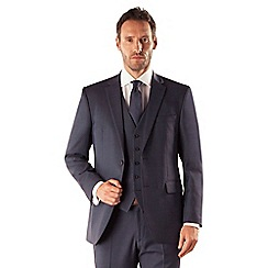 Karl Jackson - Blue pick and pick 2 button suit jacket