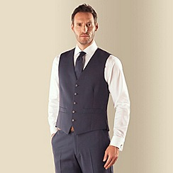 Karl Jackson - Blue pick and pick 5 button waistcoat