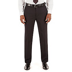 Hammond & Co. by Patrick Grant - Navy texture plain front tailored fit suit trouser