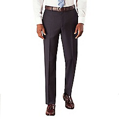 Hammond & Co. by Patrick Grant - Navy broken stripe plain front tailored fit suit trouser
