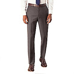 Hammond & Co. by Patrick Grant - Grey check plain front tailored fit suit trouser