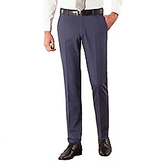 Occasions - Blue plain weave slim fit trouser