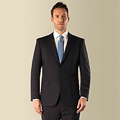 Pierre Cardin - Navy stripe 2 button front regular fit suit