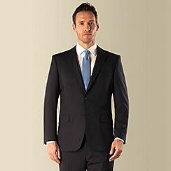 Pierre Cardin - Navy stripe 2 button front regular fit suit