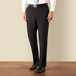Pierre Cardin - Navy stripe plain front regular fit suit trouser