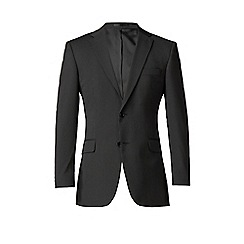 Karl Jackson - Black stripe 2 button front regular fit washable suit