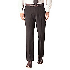 Karl Jackson - Black stripe plain front regular fit washable suit trouser