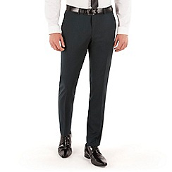 BEN SHERMAN - Jade green tonic plain front super slim fit camden suit trouser