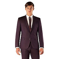 BEN SHERMAN - Plum tonic 2 button front super slim camden suit jacket
