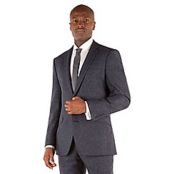Ben Sherman - Blue speckle 2 button front slim fit kings suit jacket