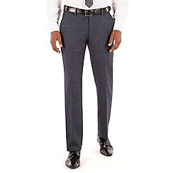 BEN SHERMAN - Blue speckle plain front slim fit kings suit trouser